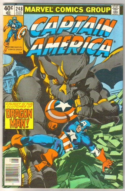 Captain America #248 comic book fine 6.0