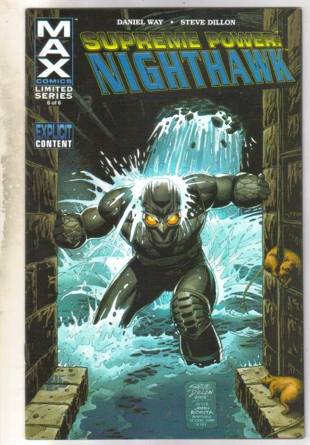 Supreme Power: Nighthawk #6 comic book near mint 9.4