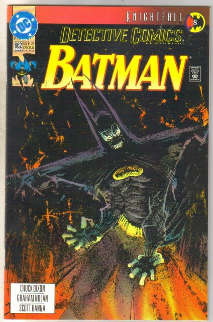 Detective Comics #662 comic book near mint 9.4