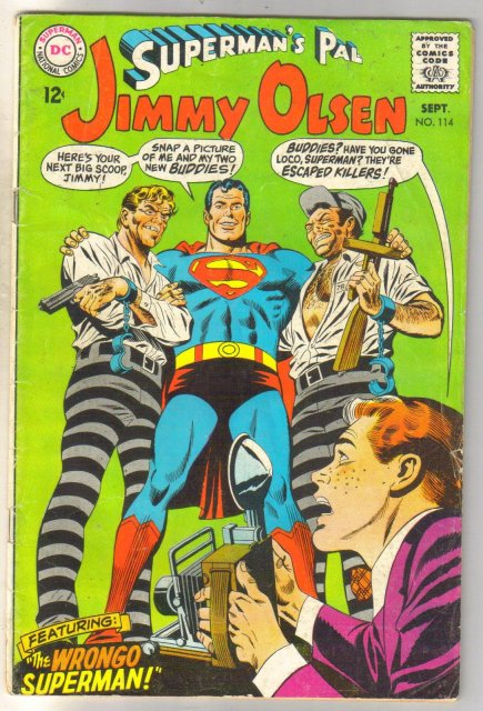 Superman's Pal Jimmy Olsen #114 comic book good/very good 3.0