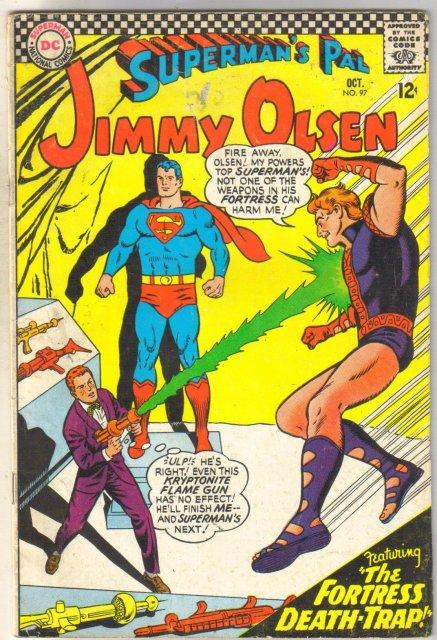 Superman's Pal Jimmy Olsen #97 comic book very good 4.0