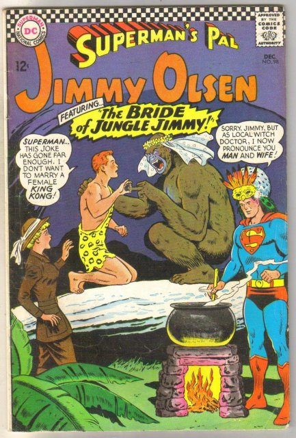 Superman's Pal Jimmy Olsen #98 comic book very good 4.0