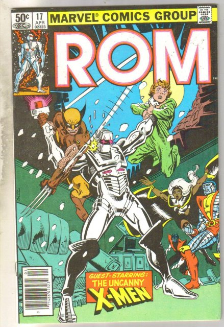 Rom #17 with X-men comic book near mint 9.4