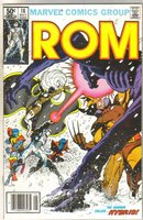 Rom #18 with X-men comic book near mint 9.4