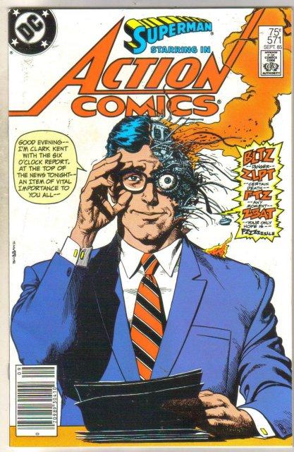 Action Comics #571 comic book near mint 9.4