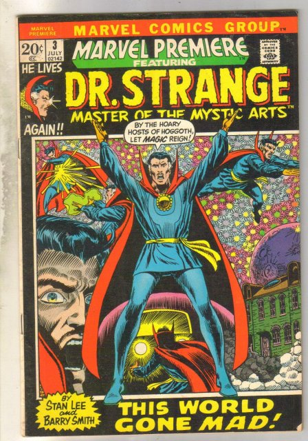 Marvel Premiere #3 featuring Doctor Strange comic book very good/fine 5.0