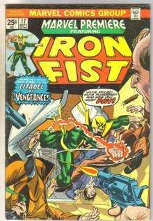 Marvel Premiere #17 featuring Iron Fist comic book fine 6.0