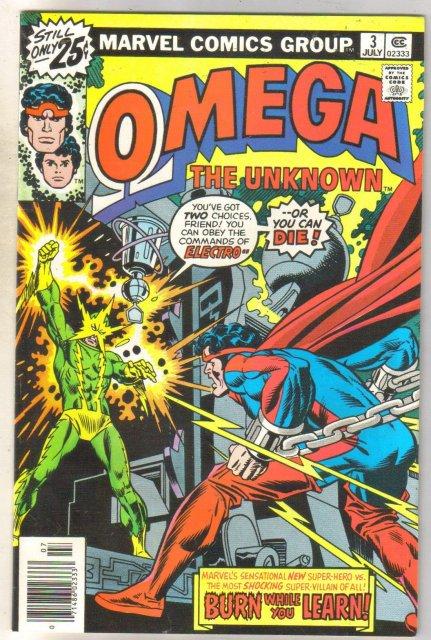 Omega the Unknown #3 comic book very fine 8.0
