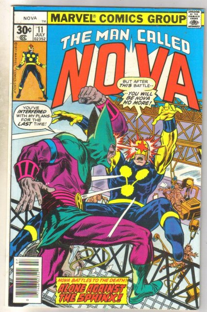 The Man Called Nova #11 comic book very fine 8.0