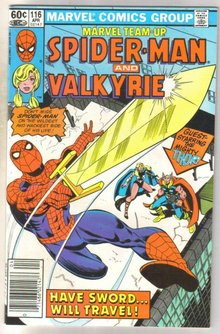Marvel Team-up Spider-man and Valkyrie #116 comic book near mint 9.4