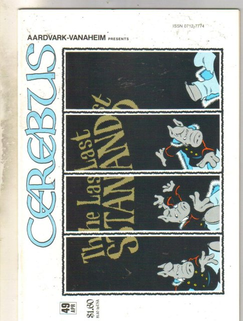 Cerebus #49 comic book mint 9.8