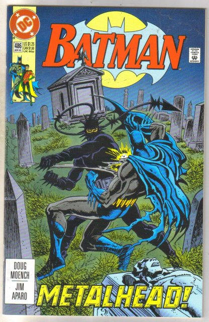 Batman #486 comic book near mint 9.4