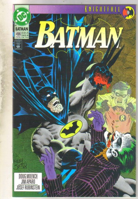Batman #496 comic book near mint 9.4