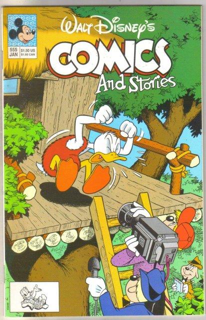 Walt Disney's Comics and Stories #555 comic book near mint 9.4
