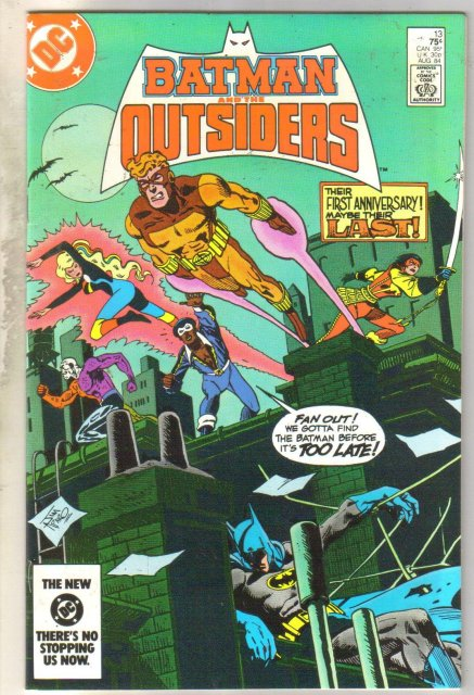 Batman and the Outsiders #13 comic book near mint 9.4