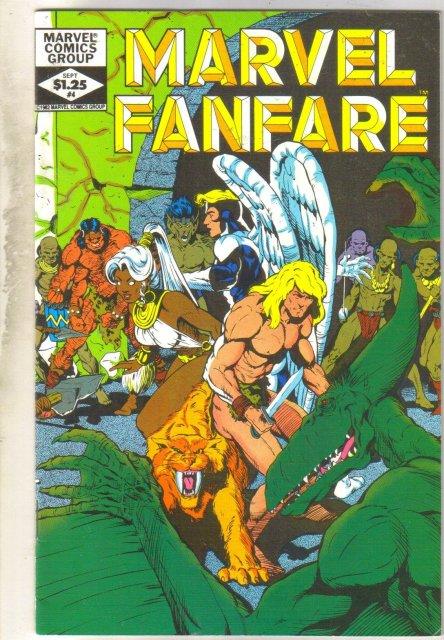 Marvel Fanfare #4 (Kazar) comic book near mint 9.4