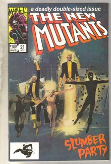 New Mutants #21 comic book near mint 9.4