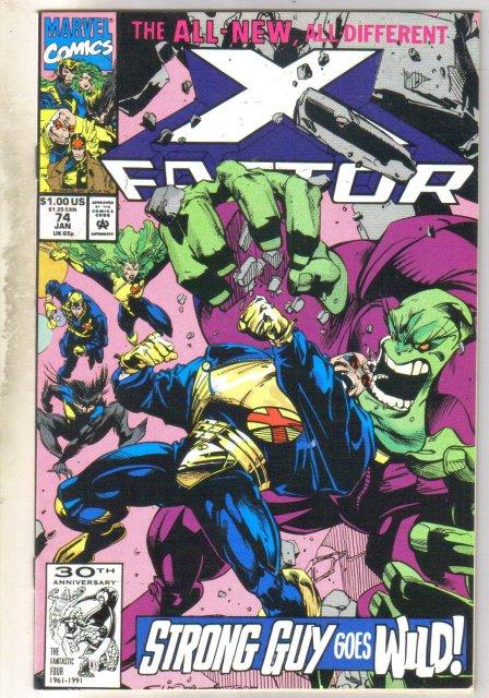 X-Factor #74 comic book near mint 9.4