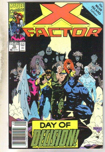X-Factor #70 comic book near mint 9.4