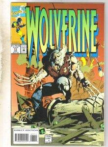 Wolverine #77 comic book near mint 9.4