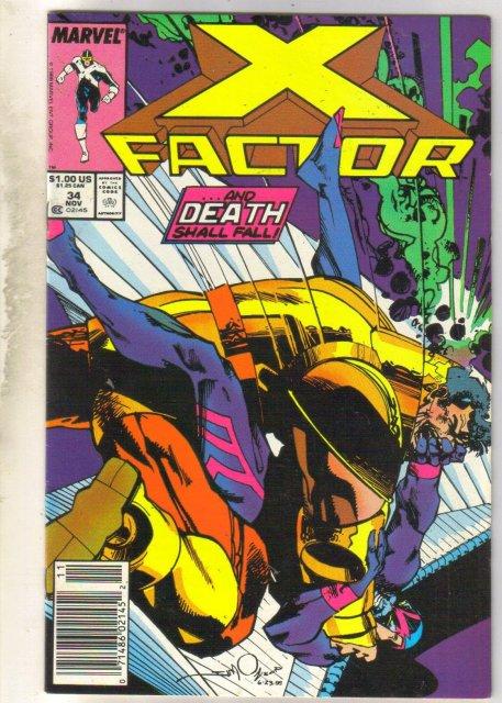 X-Factor #34 comic book near mint 9.4