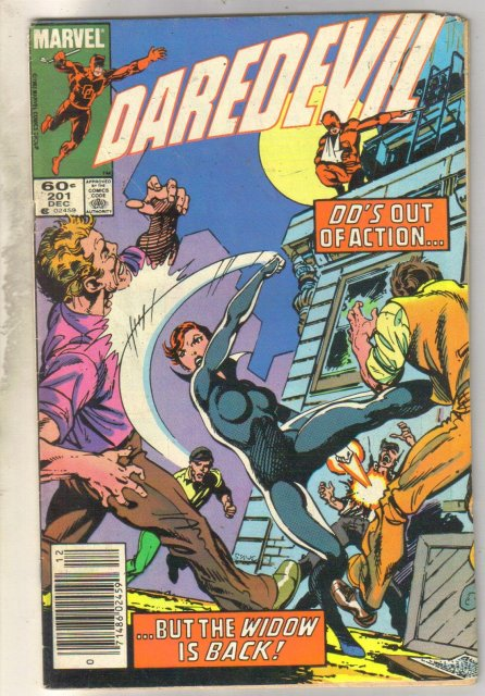 Daredevil #201 comic book very good/fine 5.0