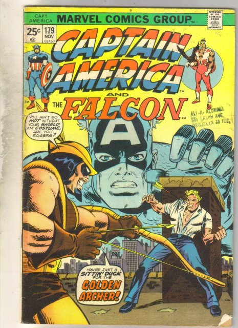 Captain America #179 comic book very good 4.0