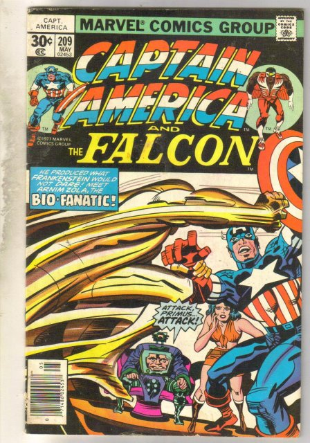 Captain America #209 comic book very good/fine 5.0