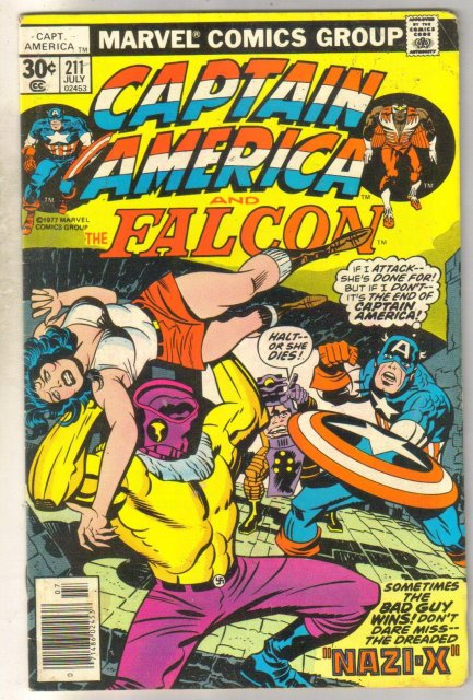Captain America #211 comic book fine 6.0
