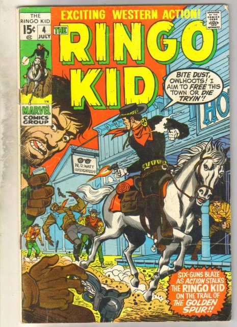 Ringo Kid #4 comic book very good 4.0