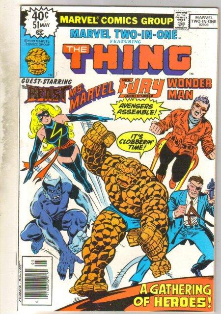 Marvel Two-In-One #51 (Ms. Marvel,Beast, Nick Fury,Wonder Man) comic book near mint 9.4