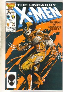 Uncanny X-men #212 comic book near mint 9.4