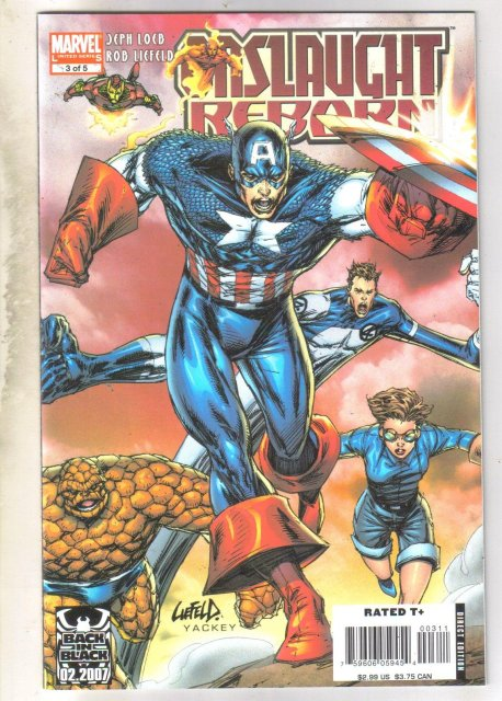 Onslaught Reborn regular edition #3 comic book near mint 9.4