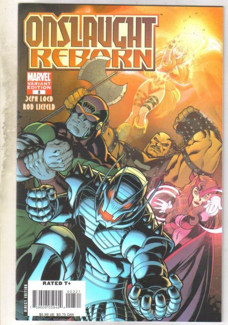 Onslaught Reborn variant edition #3 comic book near mint 9.4