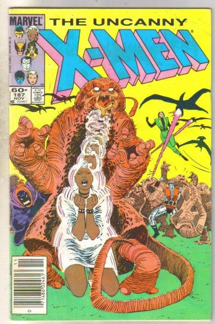 Uncanny X-men #187 comic book fine 6.0