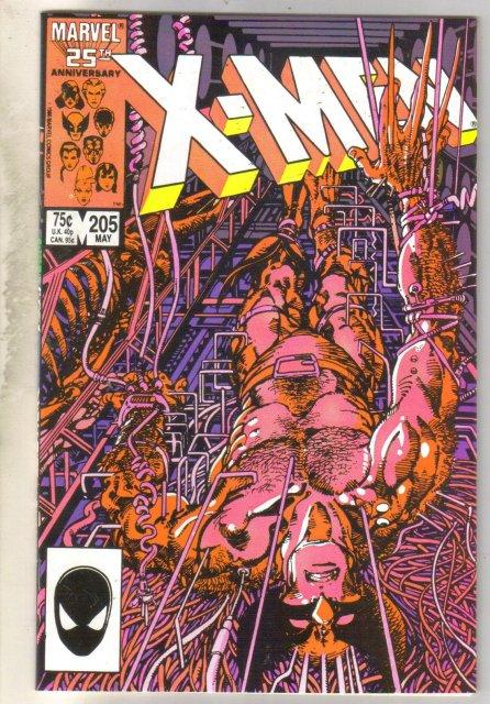 Uncanny X-men #205 comic book near mint 9.4