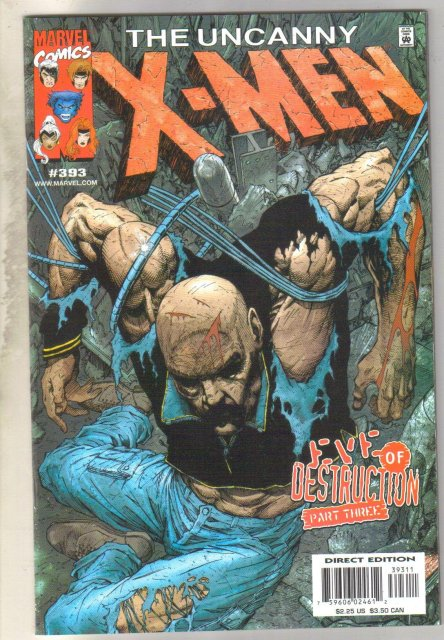Uncanny X-men #393 comic book mint 9.8