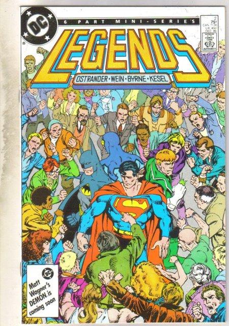 Legends #2 comic book near mint 9.4