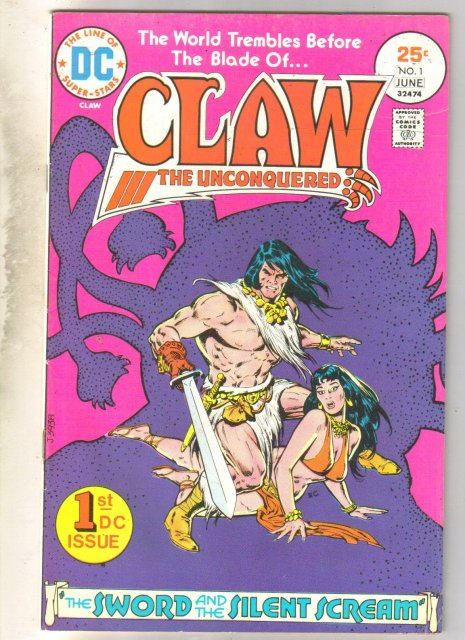 Claw the Unconquered #1 comic book fine 6.0
