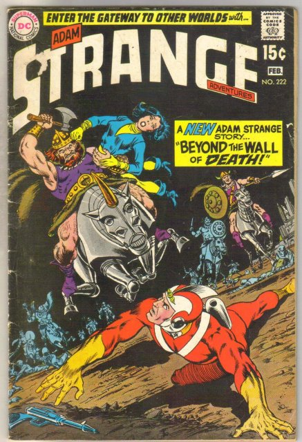 Strange Adventures #222 comic book very good 4.0