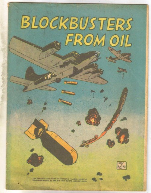 Blockbusters From Oil promotional world war 2 comic book very good 4.0