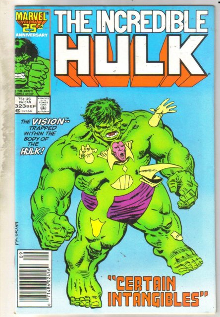Incredible Hulk #323 comic book very good 4.0