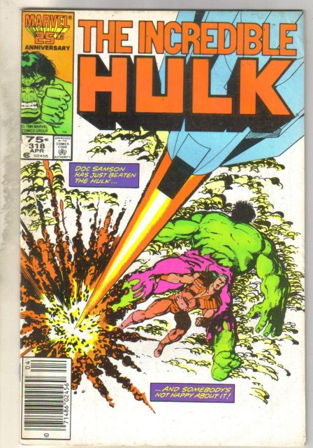 Incredible Hulk #318 comic book fine 6.0