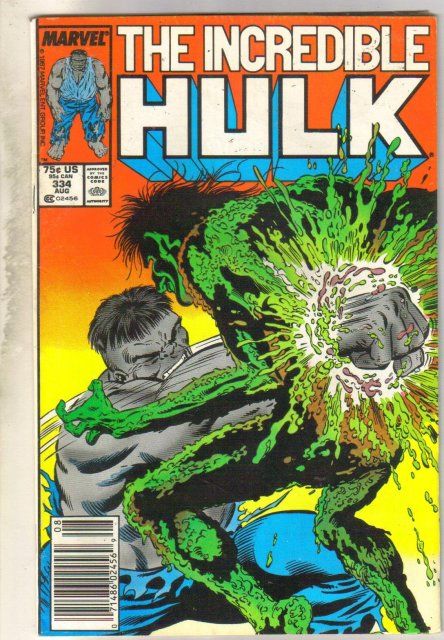 Incredible Hulk #334 comic book very fine 8.0
