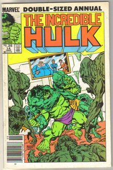 Incredible Hulk annual #14 comic book very fine 8.0