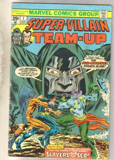 Super-Villain Team-Up #1 comic book good/very good 3.0