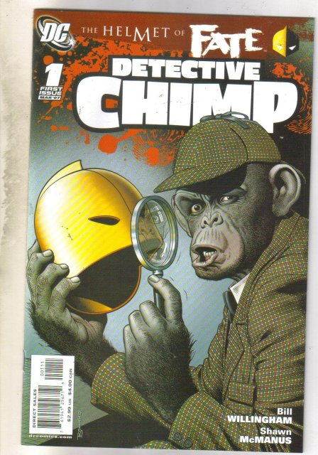 Helmet of Fate Detective Chimp #1 comic book mint 9.8