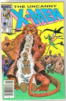Uncanny X-men #187 comic book near mint 9.4