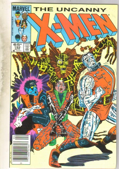 Uncanny X-men #192 comic book near mint 9.4