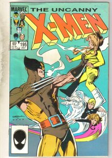 Uncanny X-men #195 comic book very good 4.0